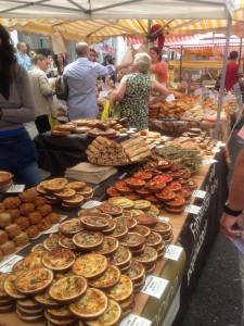 Baked goods at the Portobello Road Market