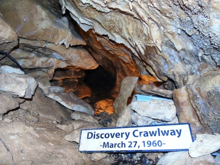 the discovery tunnel to Natural Bridge Caverns