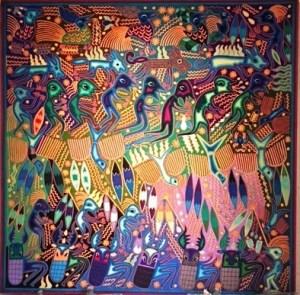 Huichol art, puerto vallarta, native tribe, culture