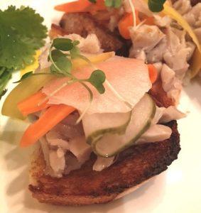 pyramid restaurant, dallas, fairmont, rabbit, pickled vegetables