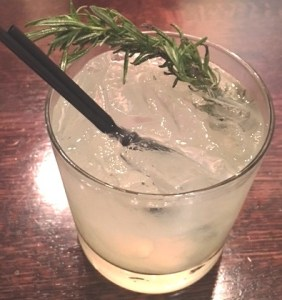 gimlet, rosemary, cocktail, gin, pyramid restaurant, dallas, happy hour