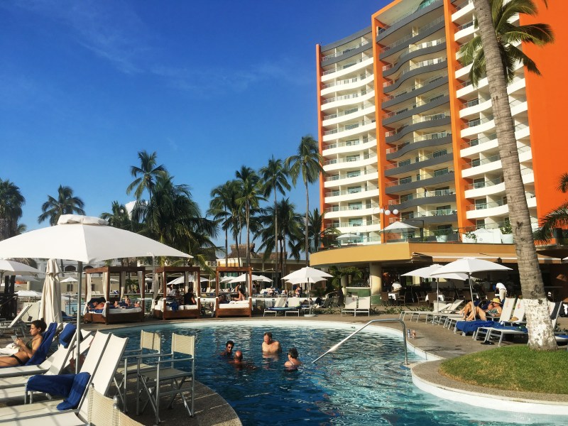 Sunset Plaza Resort and Spa, Puerto Vallarta, Mexico 1  Sunset Plaza Resort and Spa Welcome to Sunset Plaza Resort and Spa I pass through a security gate, and as I round the corner of the curved drive a g