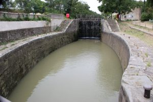 one of the many locks along the Canal du Midi