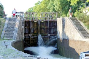 a view showing the height difference between two locks.