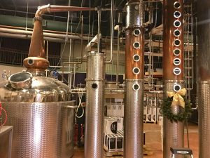 distilling vats for black eyed vodka, vodka distillers