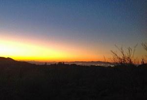 stunning Arizona sunset