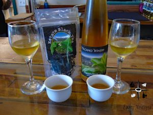 Big Island Hawaii Volcano Winery tea infused honey wine