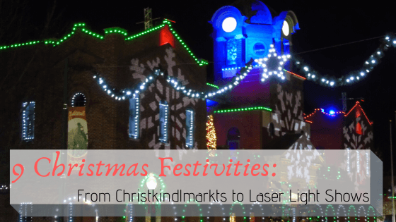 9 Christmas Festivities: From Christkindlmarkts to Laser Shows 1 Christmas markets are festive traditions that span centuries and were precursors for today's festivals and laser light shows. The first mentioned Christmas