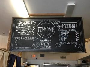 Ten:One Denton Cheese shop sign