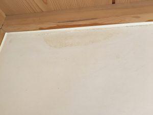 漆喰のカビ処理中