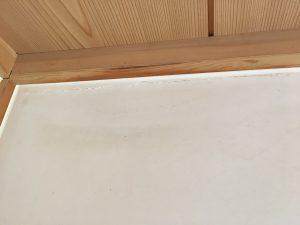 漆喰のカビ処理後