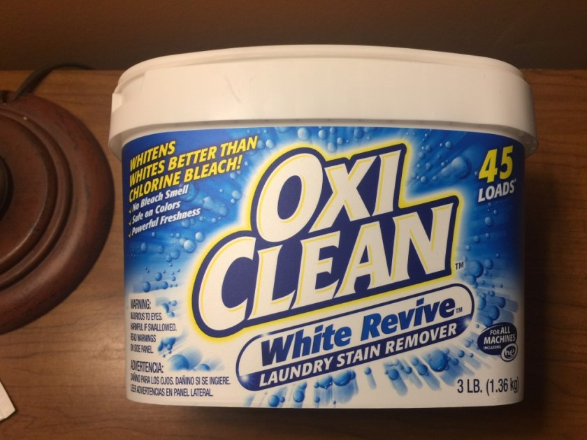I believe the normal OxiClean would've had the same results, but I got this because the shirts were white. I've since used this for all my laundry, and it's been 100% fine on all colors.