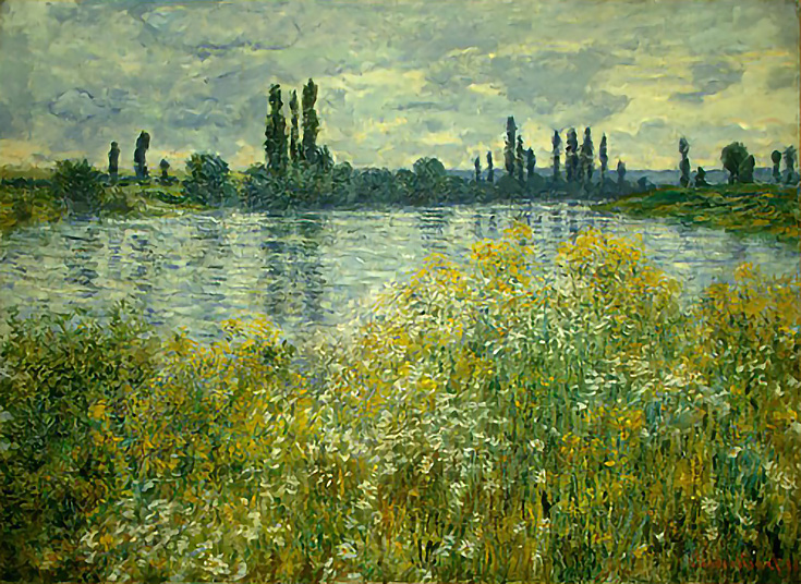 Banks of the Seine, Vétheuil by Claude Monet