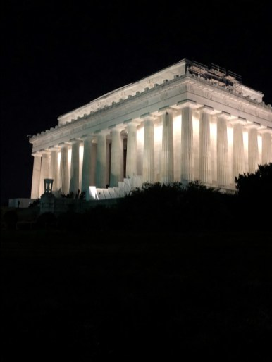 Lincoln Monument at night