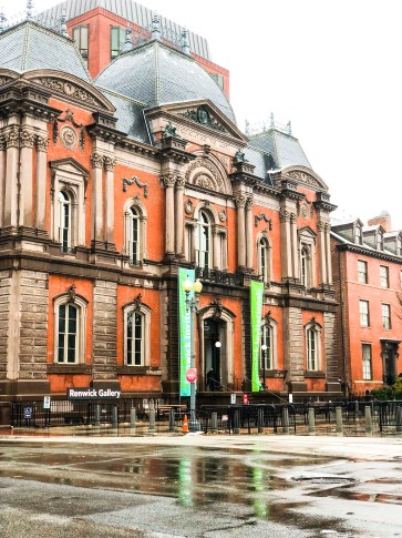 Washington D.C., rainy day, snowy day, Renwick Gallery, travel, fun, buildings