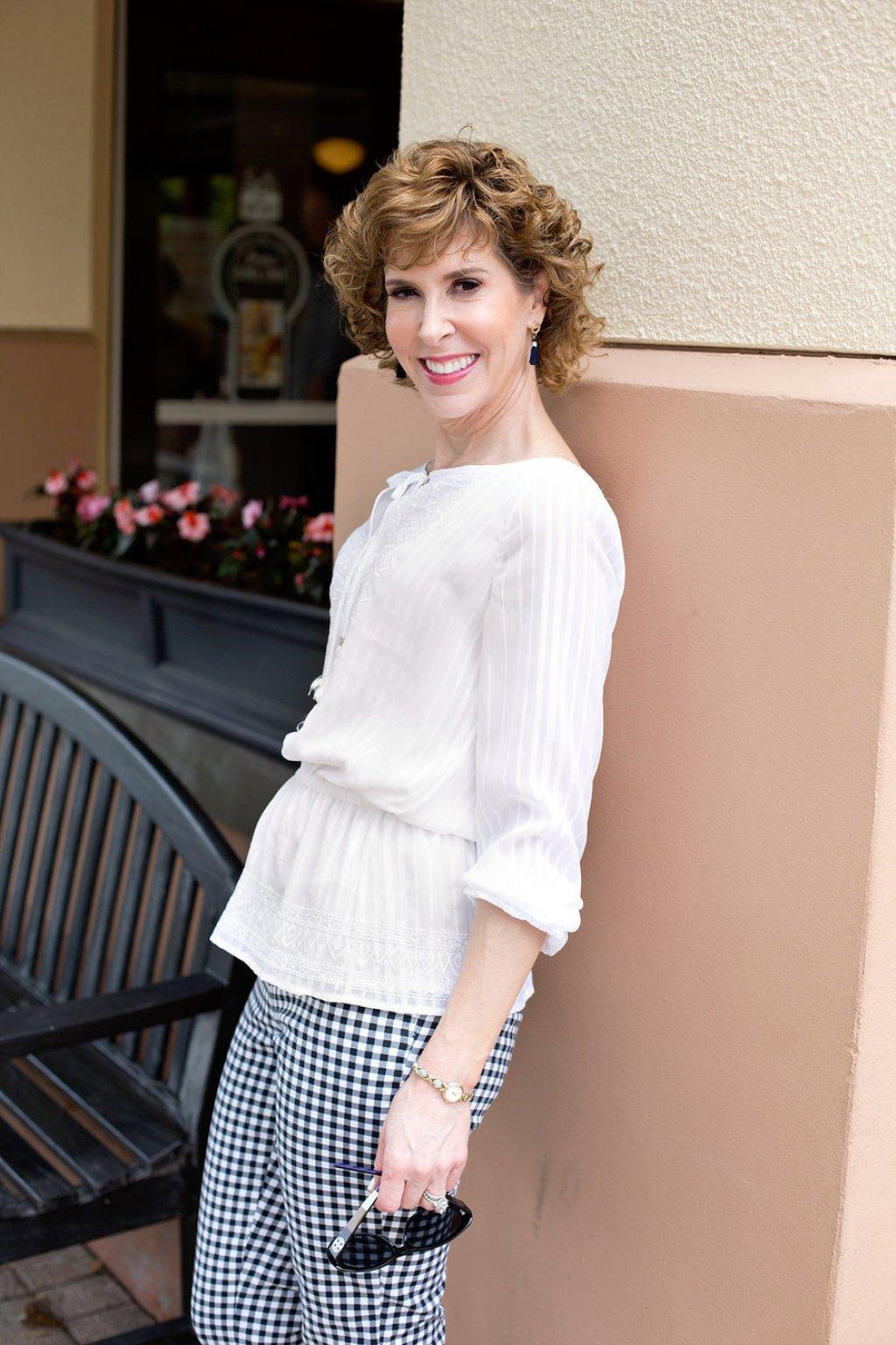 white top - white peplum top - white peasant blouse - white peasant top - feminine white blouse