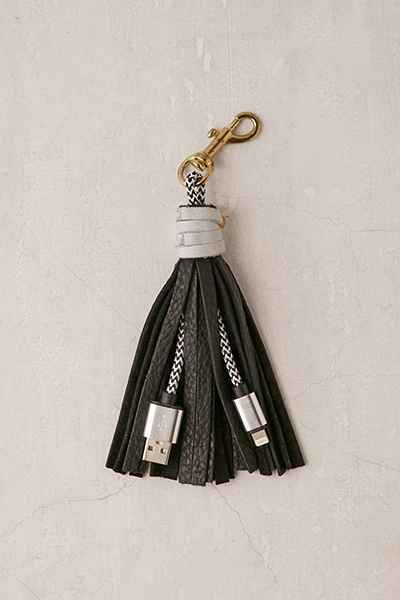 urban outfitters tassel usb and lightening charger