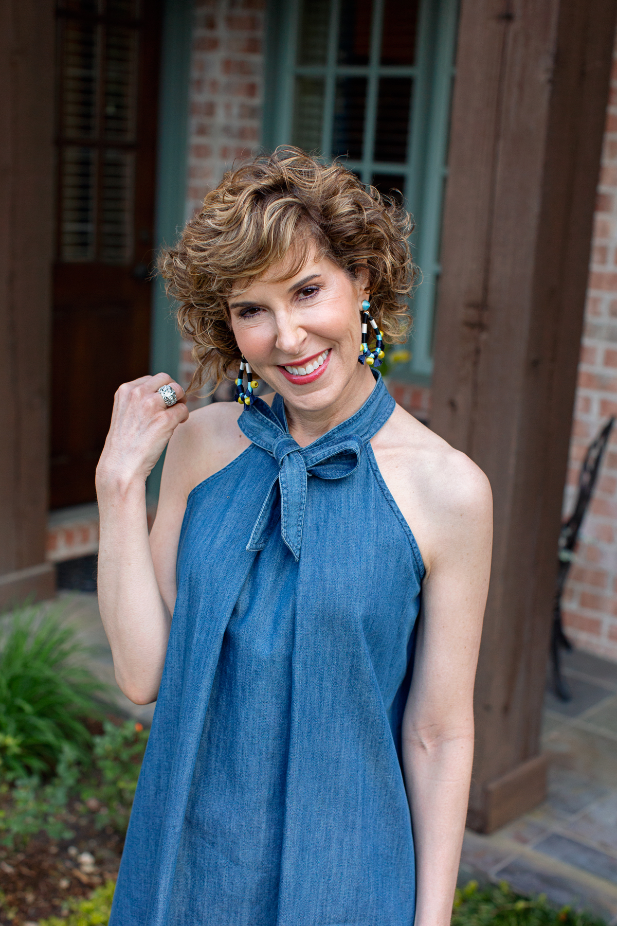 Cece halter neck cotton dress, clean up, clean out, declutter, downsize, downsizing, organize, get organized, how to declutter, tips for decluttering, tips for getting organized, how to get organized, how to downsize, tips for downsizing, professional organizer, cut the clutter, cut clutter, how to simplify, tips to simplify, give away stuff, empty nest, empty nester, empty nesters, moving, throwing out things, empty nester moving, empty nest downsize, empty nest downsizing, empty nester downsizing, baublebar Sardinia drop earrings