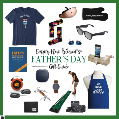 collage of fathers day gift ideas