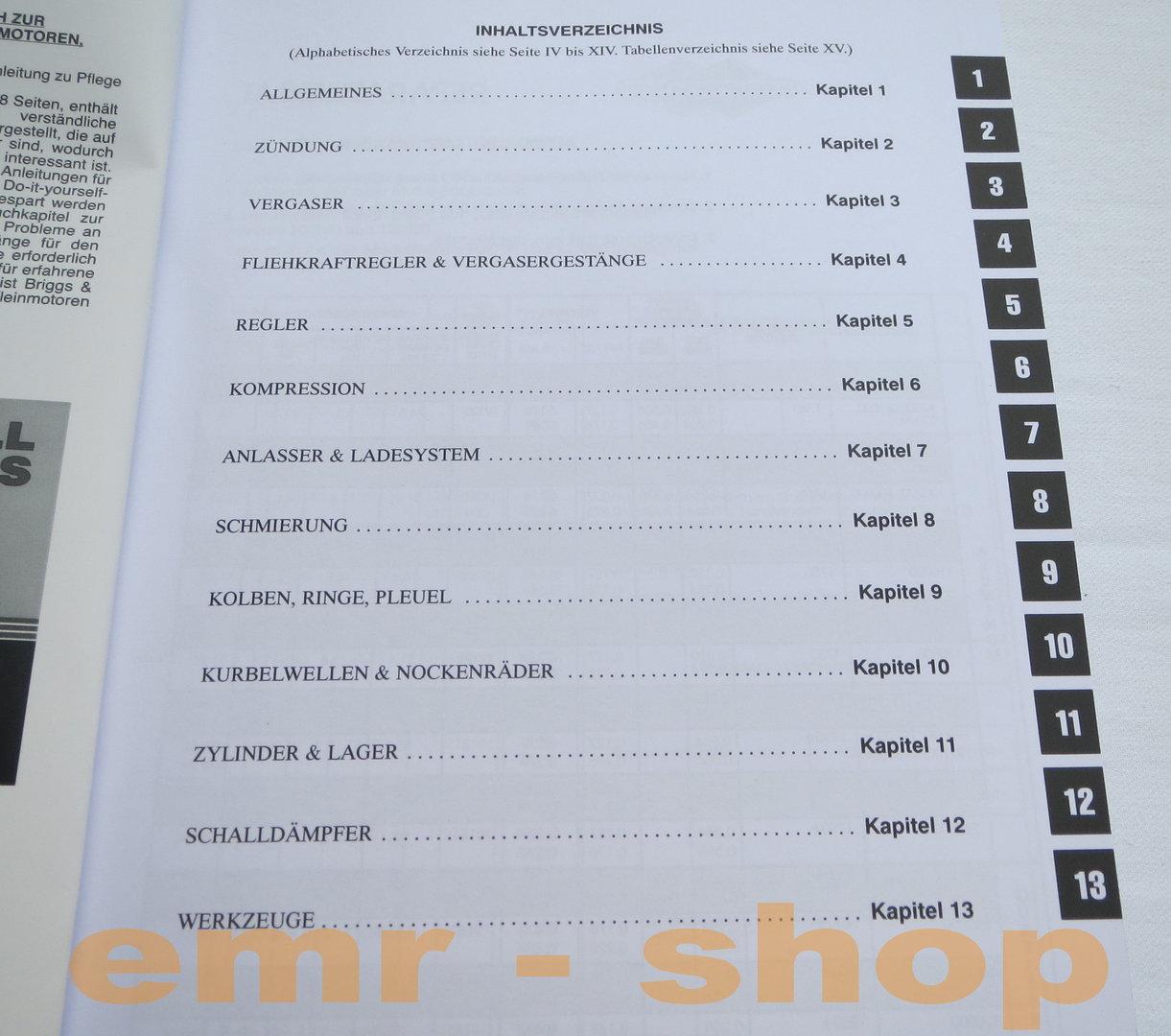 briggs and stratton reparaturhandbuch 2007 kenworth w900 stereo wiring diagram 1 zyl seitenventil motor rasenmäher