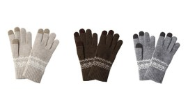 Muji Patterned touchscreen gloves