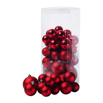IKEA julmys-decorative-ornament-set-of-50-red