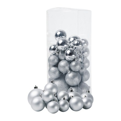 IKEA julmys-decorative-ornament-set-of-50-silver