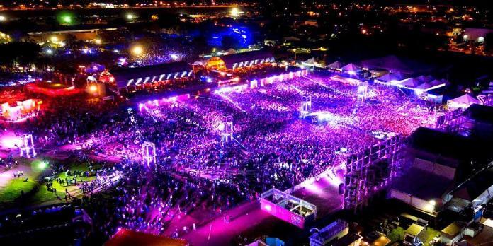 Vista aérea do festival joão Rock