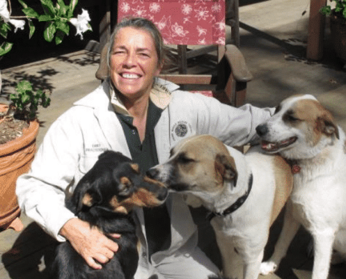 Alison Goward with her dogs