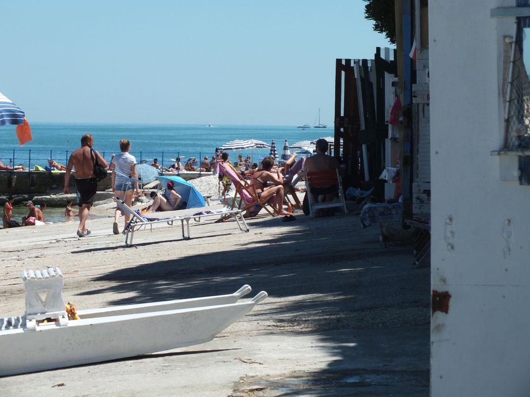 La spiaggia del Passetto