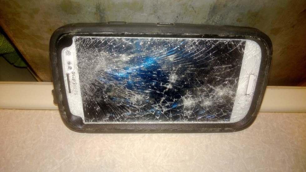 Crushed phone