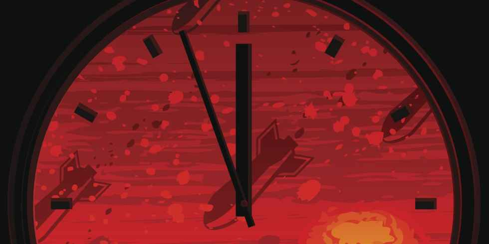 emss doomsday clock it is now two 1 2 minutes to midnight