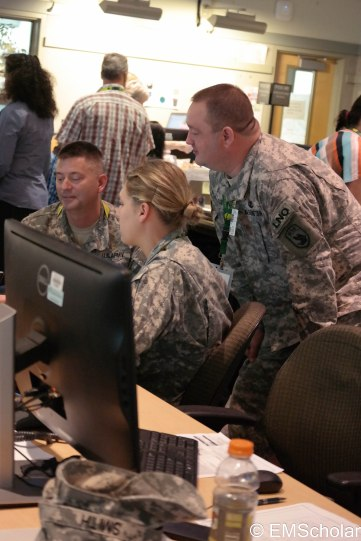 The National Guard uses the critical infrastructure damage data to prioritize debris removal.