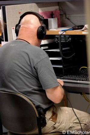 This ham radio operator is trying to reach radio operators in the counties.