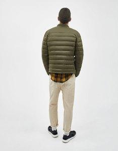 Khaki puffer jacket