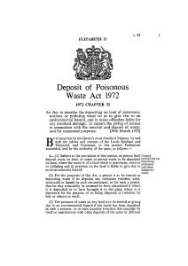 Deposit of Poisonous Waste Act 1972