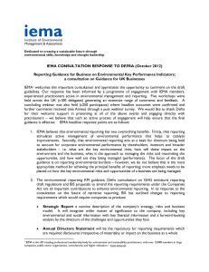 IEMA Consultation Response