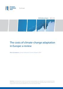 EIB Working Papers 2012/05: The costs of climate-change adaptation in Europe