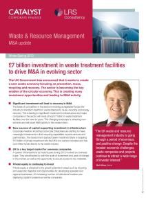 Waste & Resource Management M&A Report