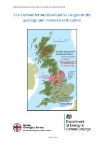 The Carboniferous Bowland Shale gas study: geology and resource estimation