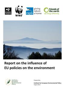 EU Report on the influence of EU policies on the environment