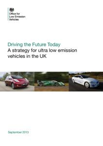 Driving the future today – a strategy for ultra low emission vehicles in the UK