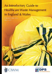 An Introductory Guide to Healthcare Waste Management in England and Wales