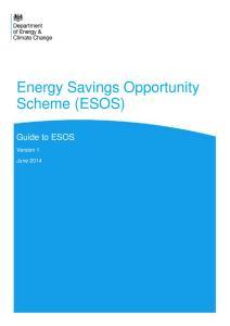 DECC Guide to ESOS