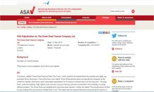 ASA Adjudication on The Green Deal Finance Company Ltd