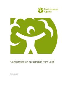 Environment Agency Charges Consultation 2015