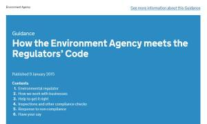How the Environment Agency meets the Regulators' Code