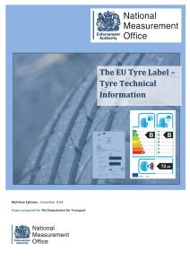 The EU Tyre Label - Tyre Technical Assessment