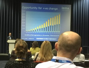 Opening Presenttaion - Martin Baxter on the development and benefits of ISO 14001:2015