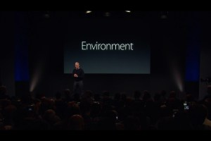 Environment Initiatives presented at the Apple Keynote on 21 March 2016